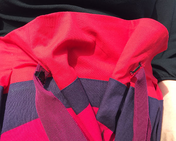 Skirt detail - unhooked at the waist - CSews.com