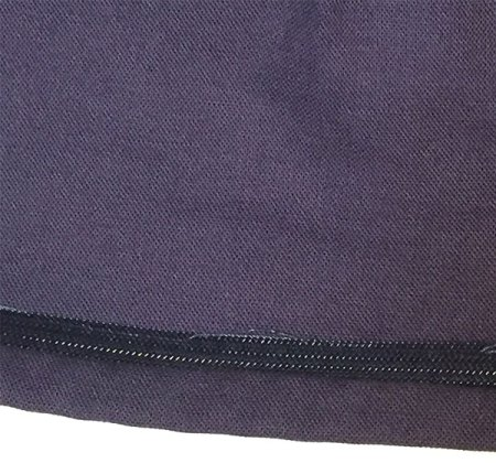 Inside view of hem and horsehair braid - CSews.com