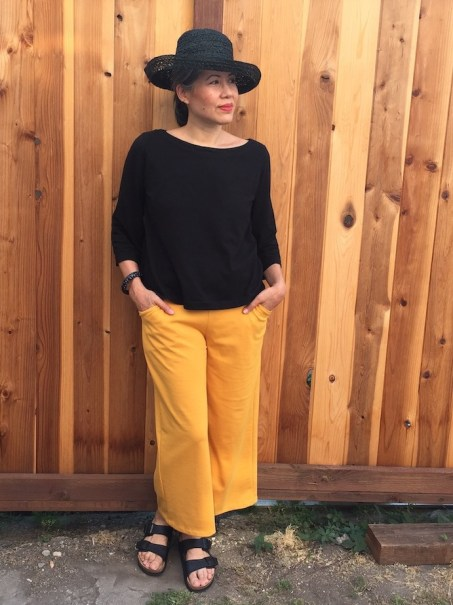 Joan Trousers by The Friday Pattern Company - front view - hands in pockets