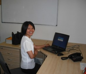 Sr Christine in her office