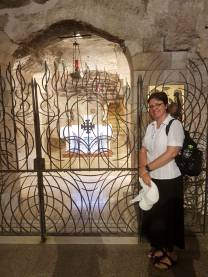 In the Grotto of Annunciation in Nazareth