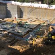 Baugrube Mehrfamilienhaus