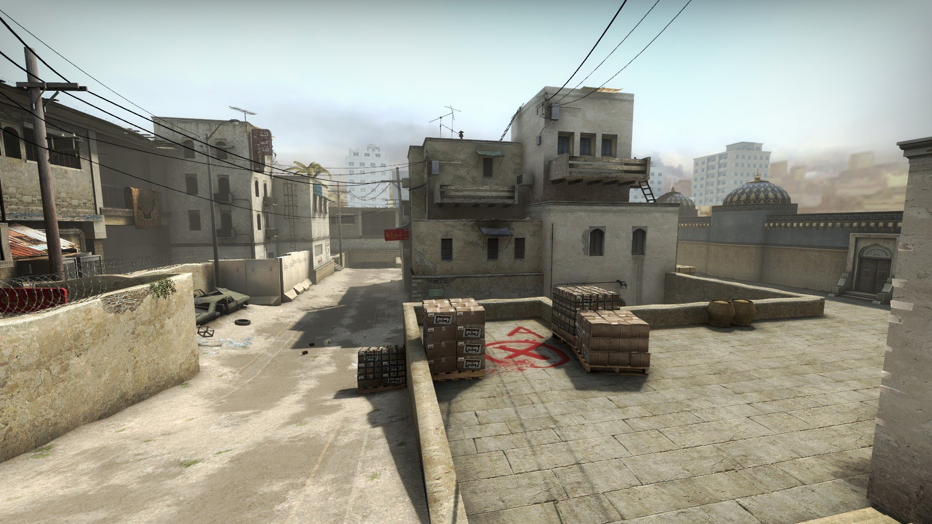 Picture of the cs go competetive map dust II