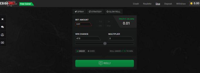 csgoroll.com legit skins betting site