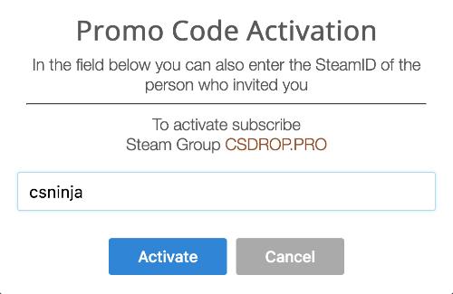 csdrop pro bonus promo code free coins