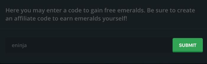 emerald gg bonus promo code free coins