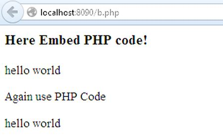 How to Embed PHP Code Into HTML Page