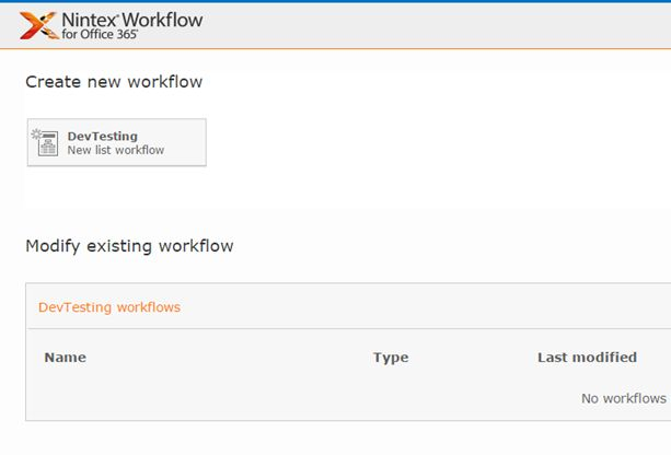 Create new workflow