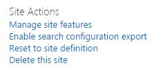 Site Features