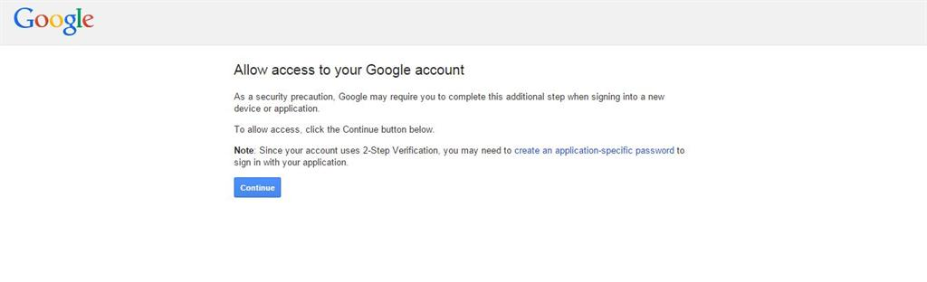 authentication is required you need to sign in to your google account