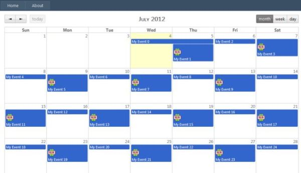 Jquery Full Calender Integrated With ASP.NET