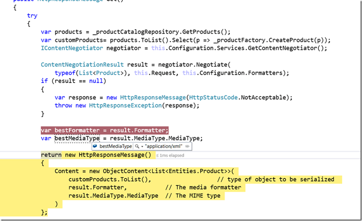 Formatters And Content Negotiation In ASP NET Web API 2