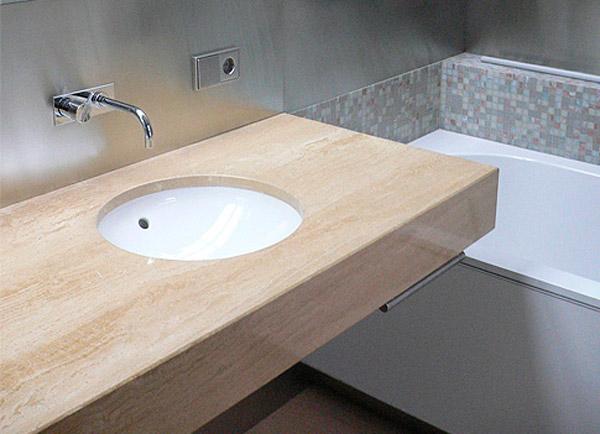 Столешницы из искусственного камня для кухни и ванной в