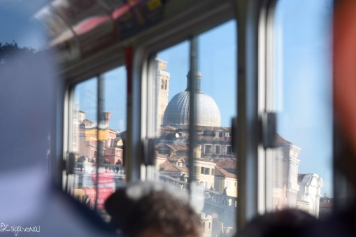 Venice view from vaporetto boat. Photo taken by Csigavonal.