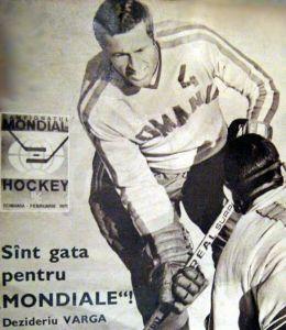 Varga Dezső a Sportul National címlapján, az 1970-es B/C csoportos világbajnokság beharangozója kapcsán