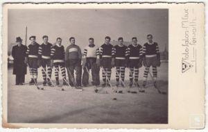 A Csíkszeredai Korcsolyázó Egylet - CSKE - csapata az 1930-as évek közepén