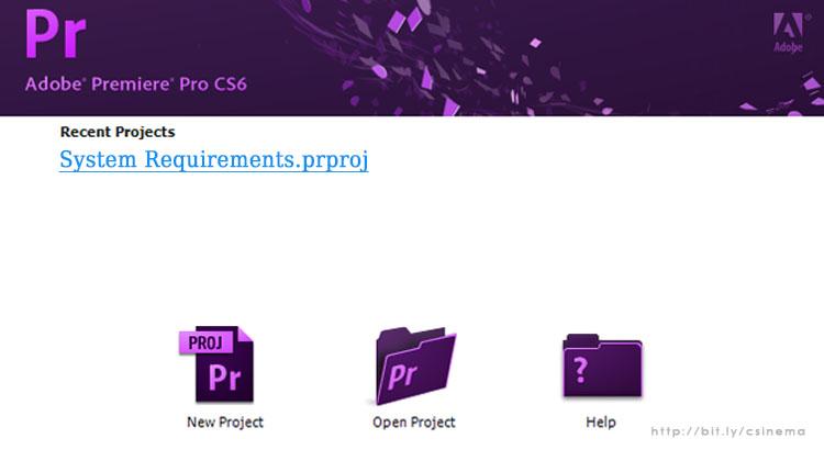 Persyaratan Sistem Adobe Premiere Pro CS 6