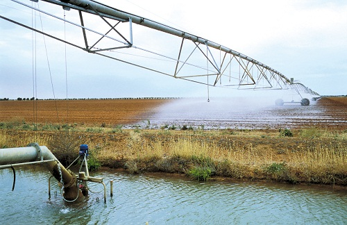 Irrigator at Cowl Cowl Station near Hillston
