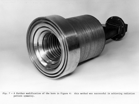 The first trial corrugated-horn for evaluation