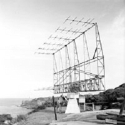 This 12-element Yagi antenna was used in 1952 to 1953 at Dover Heights to continue the survey for new radio sources at 100 MHz