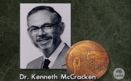 Graphic of Dr Ken McCracken with CSIRO Medal.