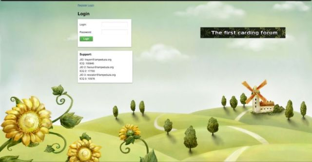 Capture d'écran d'un site Web à l'aspect inoffensif.