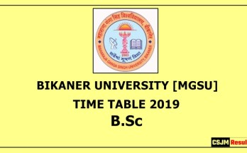 KUK Kurukshetra University B.Sc 1st 2nd 3rd Year Exam Date Sheet/Time Table 2019 B.Sc
