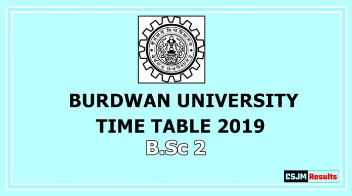 Burdwan University Time Table 2019 B.Sc 2