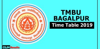 TMBU Bhagalpur University Time Table 2019