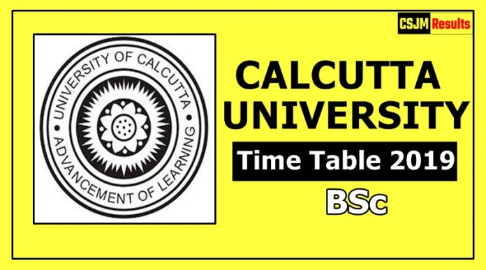 Calcutta University BSc 1 2 3 Year Time Table2019 Exam Date Sheet