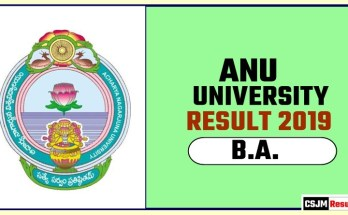 ANU BA 1st 2nd 3rd Year Result 2019