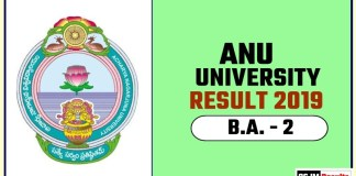 ANU BA 2nd Year Result 2019