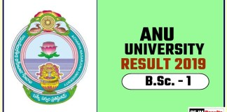 ANU BSc 1st Year Result 2019