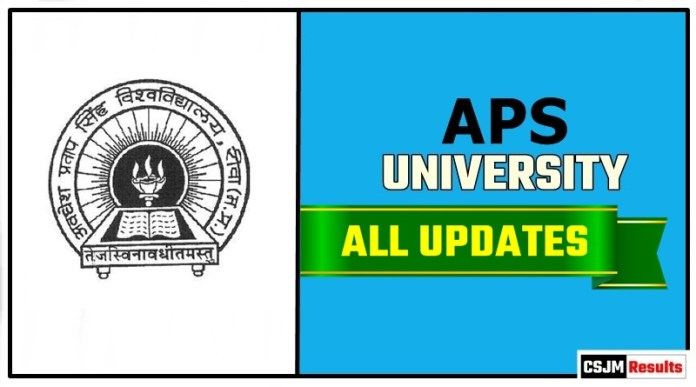 APS University Result Time Table Admit Card Admission