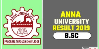 Anna University BSc 1st 2nd 3rd Year Result 2019