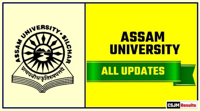 Assam University Result Time Table Admit Card Admission