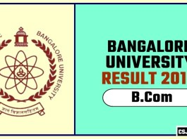 Banglore University BCom 1st 2nd 3rd Year Result 2019