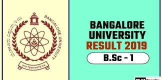 Banglore University BSc 1st Year Result 2019
