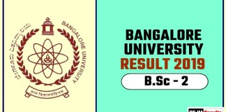 Banglore University BSc 2nd Year Result 2019