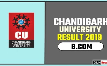 Chandigarh University [CU] BCOM 1st 2nd 3rd Year Result 2019