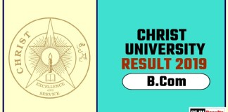 Christ University BCom 1st 2nd 3rd Year Result 2019