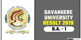 Davangere University BA 1st Year Result 2019