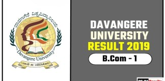 Davangere University BCom 1st Year Result 2019