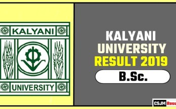 Kalyani University BSc 1st 2nd 3rd Year Result 2019