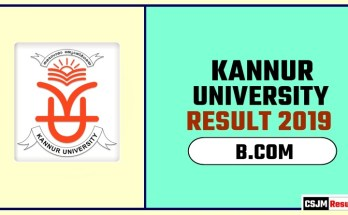 Kannur University BCOM 1st 2nd 3rd Year Result 2019