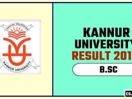Kannur University BSC 1st 2nd 3rd Year Result 2019