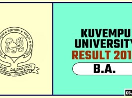 Kuvempu University BA 1st 2nd 3rd Year Result 2019