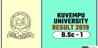 Kuvempu University BSc 1st Year Result 2019