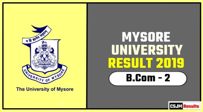 Mysore University BCom 2nd Year Result 2019