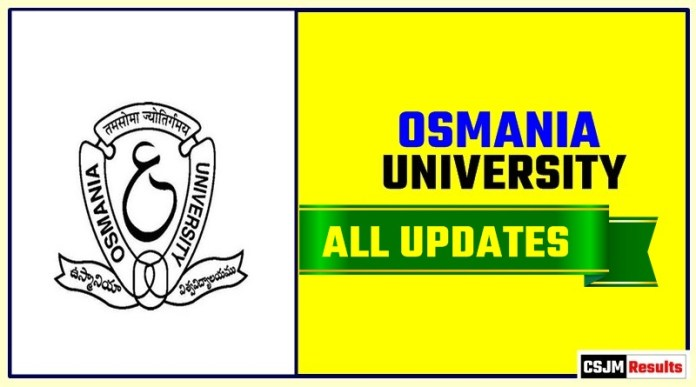 Osmania University Result Time Table Admit Card Admission